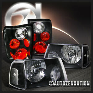 For 2001 2005 Ford Ranger Black Clear Headlights corner Lamps tail Lights Pair