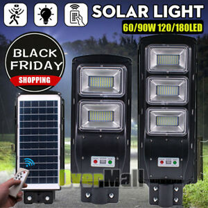 90000LM Solar Brightest LED Street Light Commercial Outdoor IP67 Area Security  $54.89