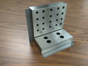 Angle Plate 6x6x4x1 1 4 Precision Ground W Tapped Holes 0 0002 pgap 664 new