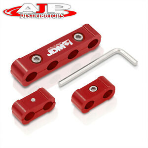 Jdm Light Weight Cnc Aluminum Spark Plug Wires Spacers Red 4 Cylinder Engines