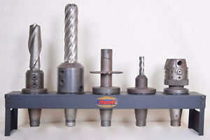 Various Taper Shank Mill Assortment With Hout Stand Enco Weldon Others