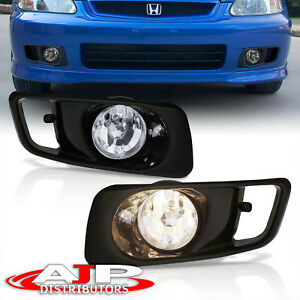 Chrome Driving Bumper Fog Lights Lamps Wiring Switch For 1999 2000 Honda Civic