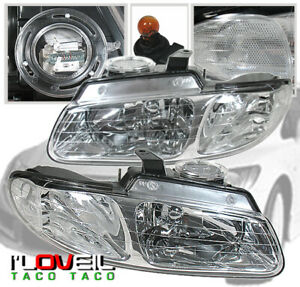 For 96 00 Dodge Caravan Chrysler Town Country Voyager Crystal Headlights Clear