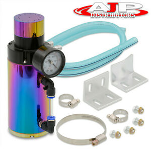 For Ford Turbocharger Supercharger Engine Oil Catch Can Reservoir Tank Neochrome