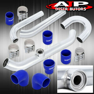 Aluminum Turbo Piping Kit For 1989 1997 Mitsubishi Mirage Blue Couplers