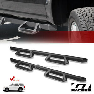 For 2000 2014 Chevy Tahoe Gmc Yukon Matte Blk Aluminum Hoop Drop Step Nerf Bars