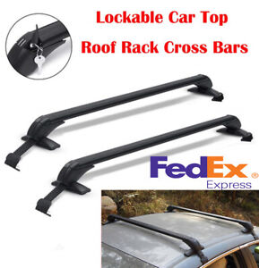 2x Car Roof Rack Luggage Carrier Cross Bar Kit W Anti theft Lock Universal Usa