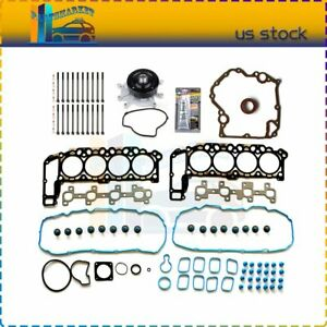 For 02 Jeep Dodge Dakota 4 7l Timing Cover Gasket Head Gasket Bolt Water Pump