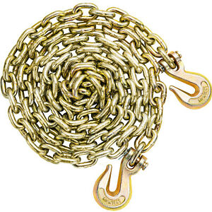 Tow Chain Tie Down Binder Flat With Grade 70 Hooks 3 8 10 5ft Truck Trailer