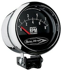 Auto Meter 2897 Traditional Chrome Series Gauge 3 3 4 Tach Short Sweep