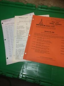 Rare 1972 1973 Vintage Deutz Air Cooled Diesel Engines Price Lists Khd