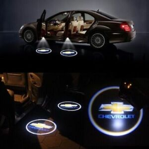 2 Wireless Car Door Led Welcome Projector Light Shadow Lamp For Chevrolet Logo
