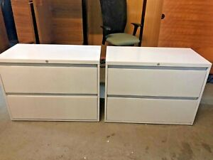 2 Drawer Lateral Size File Cabinet By Steelcase Office Furniture W lock