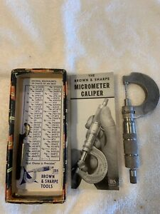 Central Tool Co Micrometer In A Brown Sharpe Box not A Brown Sharpe