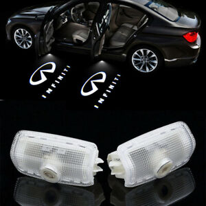 2x Led Logo Laser Door Courtesy Welcome Shadow Light For Infiniti G M Fx Series