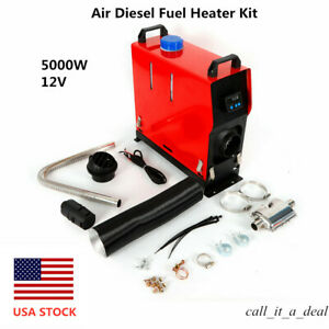 5kw 5000w 12v Air Diesel Fuel Heater Kit For Car Truck Vehicle Boat Bus Van Usa