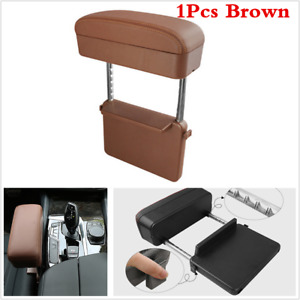 Brown Car Armrest Rest Elbow Support Pads Seat Storage Seat Gap Filler Universal