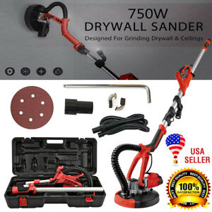 750w Foldable Stretchable Electric Drywall Sander Kit With Led Lamp