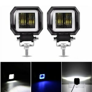 2x Car Auto Motorcycle Off Road 12 24v 20w Led Work Spot Lights Driving Fog Lamp