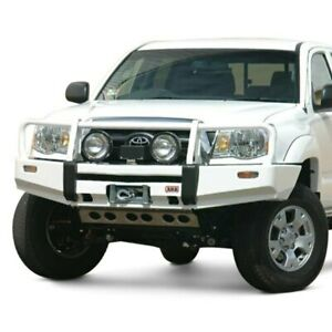 For Toyota Tacoma 05 11 Bumper Deluxe Full Width Black Front Winch Hd Bumper W