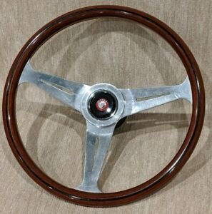 Vintage E Nardi Wood Steering Wheel From An Xk 150 Jaguar Hub