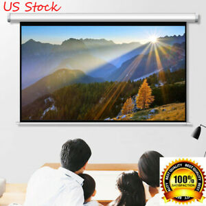100 Inch 4 3 Projection Projector Screen Manual Pull Down Home Theater Outdoor