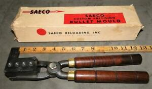 Saeco 294441 .44 caliber 250 gr Keith four cavity bullet mold in box and handles