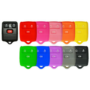 Silicone Protective Rubber Keyless Remote Key Fob Cover Case For Ford 3 Button