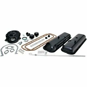 Trans Dapt 3060 Black Engine Dress up Kit Chevy 396 454 No Pcv Includes Push in