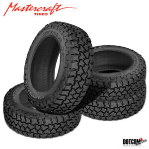 4 X New Mastercraft Courser Cxt Lt265 70r17r10 121 118q Owl Tires