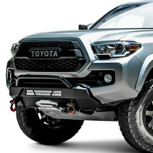 For Toyota Tacoma 16 20 Bumper Hiline Stubby Black Powder Coat Front Winch Hd