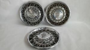 3 Hub Caps Wheel Cover Wire Type Fit 78 79 80 81 Cadillac Fleetwood Base R309591
