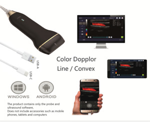 Usb Ultrasound Scanner With Color Dopplor For Smartphone Tablet And Pc