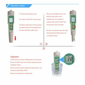 Digital Orp Meter Tester Pen Redox Potential Tester Water Quality Monitor