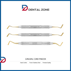 Cord Packer Dental Hand Instruments non serrated Set Of 3