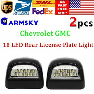 Rear License Plate Lights 18 Led Fit For 99 14 Chevrolet Gmc Pickup Truck