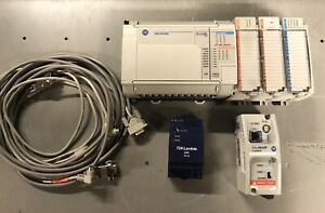 Allen Bradley Micrologix 1500 Plc Lot W Power Supply Ethernet Interface Nice