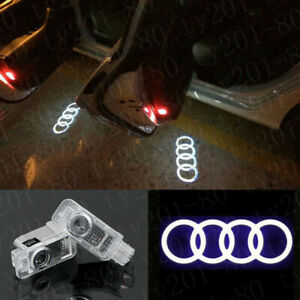 2pcs Audi New Logo Ghost Laser Projector Door Under Puddle Lights For Audi All