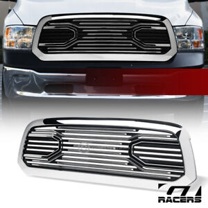 For 2013 2018 Dodge Ram 1500 Chrome Big Horn Style Front Bumper Grill Grille Abs