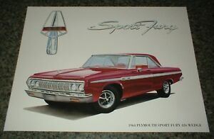 1964 Plymouth Sport Fury 426 Wedge Mopar Art 64 63 Hemi Max Print