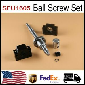 Ball Screw Sfu1605 End Machined bk bf12 End Support 6 35x10mm Coupler Us Stock