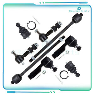 Fits 1995 1999 Nissan Maxima Steering 8pcs Front Tie Rod End Ball Joint Sway Bar