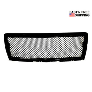 Fit For 2014 2015 Chevy Silverado 1500 New Mesh Front Hood Grille Gloss Black