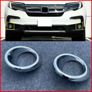 2019 2020 For Honda Pilot Ex l Chrome Accessories Front Fog Light Lamp Cover