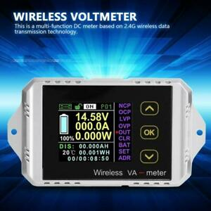 Wireless Dc 0 400v 0 300a Lcd Digital Combo Panel Volt Amp Power Watt Meter Kd