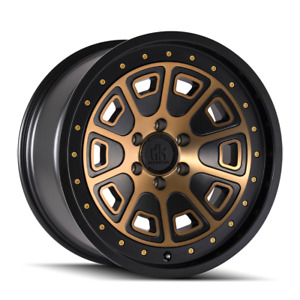 17 Mayhem 8301 Flat Iron Black W bronze Tint Lifted Truck Rim 17x9 6x5 5 12mm