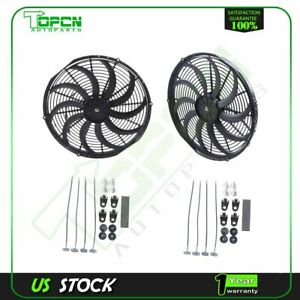 12v 16 Inch 3000 Cfm New Electric Radiator Cooling Fan Fits 06 16 Ford Fusion