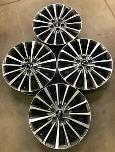 74755 Set Of 18 Kia Cadenza 2017 2018 Factory Oem Rims Wheels Charcoal Machined