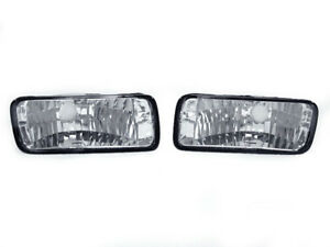 Depo Clear Front Bumper Signal Light Pair For 1985 1992 Chevrolet Chevy Camaro