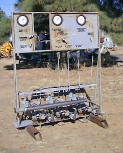 7000 Psi Triple Gas Booster 3 Haskel 3acd 60 Booster Pump System On Frame